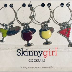New Pretty wine glass charms!